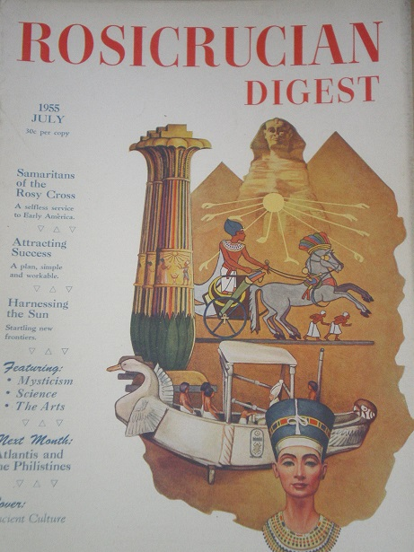 ROSICRUCIAN DIGEST, July 1955 issue for sale. Original U.S. publication from Tilley, Chesterfield, D