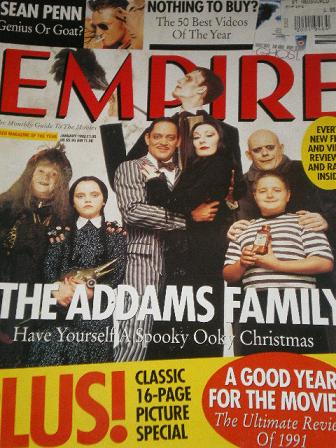 EMPIRE magazine, January 1992 issue for sale. ADDAMS FAMILY. Original British MOVIE publication from
