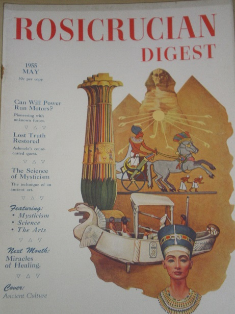 ROSICRUCIAN DIGEST, May 1955 issue for sale. Original U.S. publication from Tilley, Chesterfield, De