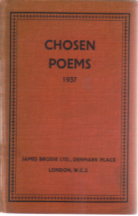 CHOSEN POEMS 1937 JAMES BRODIE LONDON EDUCATIONAL HISTORY SET BOOK FOR SALE