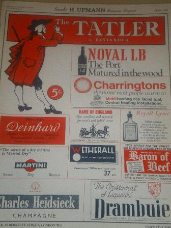 The TATLER magazine, April 1968 issue for sale. Original British SOCIETY publication from Tilley, Ch