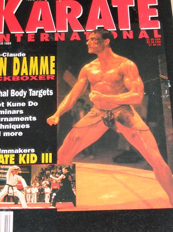 KARATE INTERNATIONAL magazine, October 1989 issue for sale. VAN DAME. Original gifts from Tilleys, C