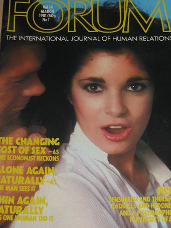 FORUM magazine, March 1981 issue for sale. ADULT, SEXUAL RELATIONS publication. Classic images of th