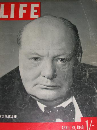 LIFE magazine, April 29 1940 issue for sale. CHURCHILL, NORWAY. Birthday gifts from Tilleys, Chester