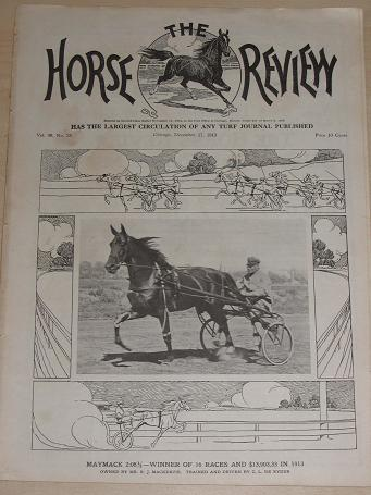 HORSE REVIEW December 17 1913 TURF JOURNAL. U.S. trotting, horse racing, horse owners publication fo