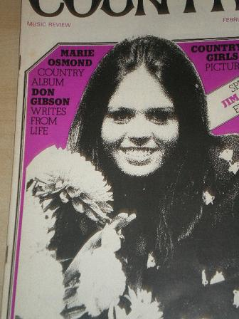 COUNTRY magazine, February 1974 issue for sale. MARIE OSMOND. Original publication from Tilley, Ches