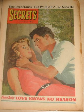 SECRETS magazine, June 1 1963 issue for sale. ROMANTIC FICTION, WOMENS FICTION. Birthday gifts from