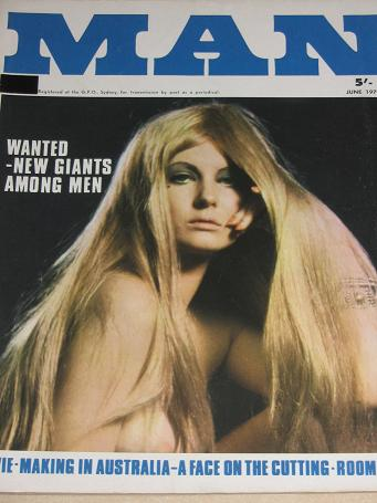 MAN magazine, June 1970 issue for sale. Vintage MENS, PIN-UP, STORY publication. Classic images of t