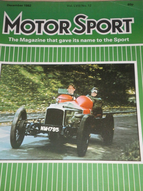 MOTOR SPORT magazine, December 1982 issue for sale. Original British publication from Tilley, Cheste