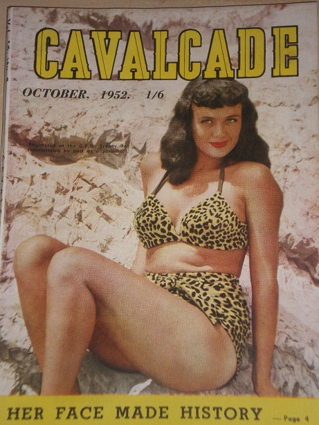 CAVALCADE magazine, October 1952 issue for sale. Original AUSTRALIAN publication from Tilley, Cheste