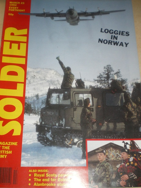 SOLDIER magazine, March 23 1992 issue for sale. Original British publication from Tilley, Chesterfie