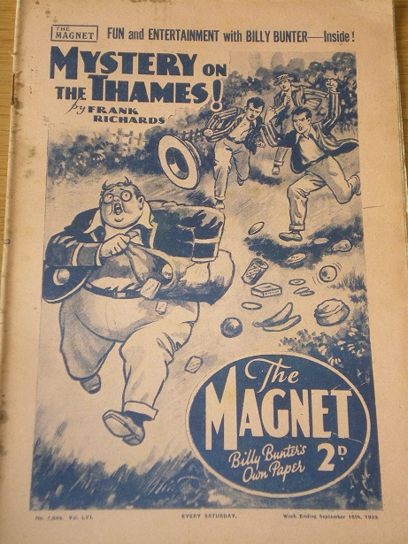 THE MAGNET story paper, September 16 1939 issue for sale. BILLY BUNTER, CHARLES HAMILTON, FRANK RICH