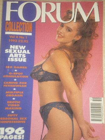 FORUM COLLECTION magazine, Volume 4 Number 1 1992 issue for sale. Original British adult publication