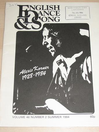 ENGLISH DANCE AND SONG magazine, Volume 46 Number 2 issue for sale. 1984 FOLK MUSIC, DANCE publicati