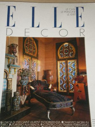 ELLE DECOR magazine, May 1990 issue for sale. Original ITALIAN INTERIOR DESIGN publication from Till