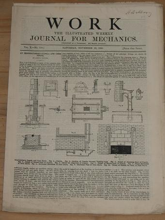 WORK MECHANICS JOURNAL NOVEMBER 30 1895 ISSUE FOR SALE ORIGINAL ANTIQUE ENGINEERING HOBBIES DO-IT-YO