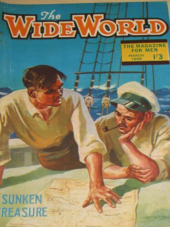 WIDE WORLD magazine, March 1946 issue for sale. ILLUSTRATED, TRUE ADVENTURE, TRAVEL publication. Col