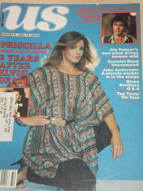 US magazine, August 5 1980 issue for sale. PRISCILLA PRESLEY, GRATEFUL DEAD, BLUES BROTHERS. Origina