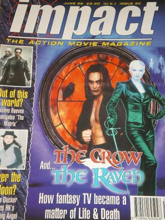 IMPACT magazine, June 1999 issue for sale. Original British ACTION MOVIE publication from Tilley, Ch