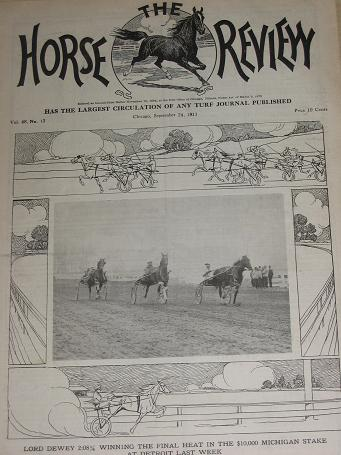 HORSE REVIEW September 24 1913 TURF JOURNAL. U.S. trotting, horse racing, horse owners publication f