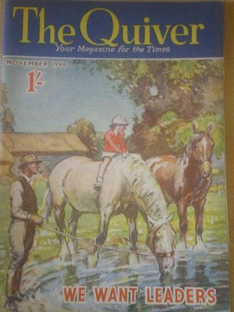 The QUIVER magazine, November 1948 issue for sale. Original British publication from Tilley, Chester