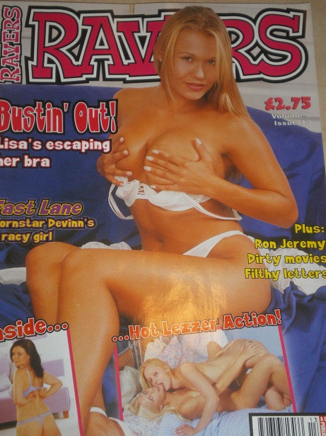 RAVERS magazine, Volume 9 Number 13 issue for sale. Original 2003, British ADULT publication. www.Ti