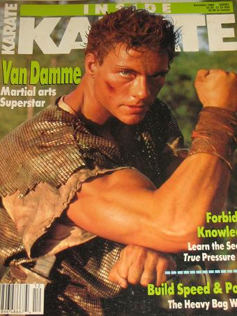 INSIDE KARATE magazine, December 1988 issue for sale. VAN DAMME. Original gifts from Tilleys, Cheste