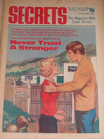 SECRETS magazine, July 10 1982 issue for sale. ROMANTIC FICTION, WOMENS FICTION. Birthday gifts from
