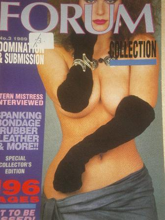 FORUM COLLECTION magazine, No. 3 1989 issue for sale. Original British adult publication from Tilley
