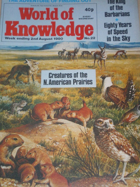 WORLD OF KNOWLEDGE magazine, 2 August 1980 issue for sale. Original British JUVENILE publication fro