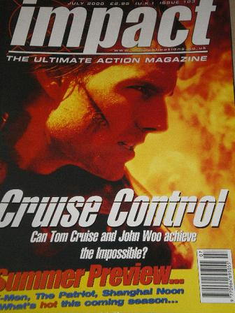 IMPACT magazine, July 2000 issue for sale. TOM CRUISE. Original British ACTION MOVIE publication fro