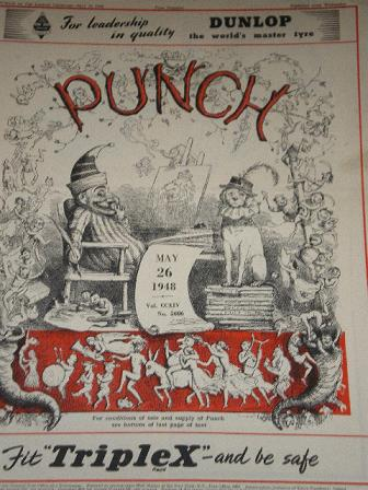 PUNCH magazine, May 26 1948 issue for sale. Original British publication from Tilleys, Chesterfield,