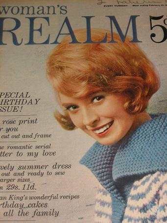 WOMANS REALM magazine, February 23 1963 issue for sale. FICTION, FASHION, KNITTING. Birthday gifts f