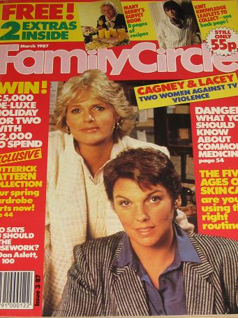 FAMILY CIRCLE magazine, March 18 1987 issue for sale.CAGNEY AND LACEY. KNITTING, SEWING, CRAFTS, HOM