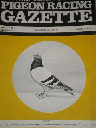 PIGEON RACING GAZETTE, April 1979 issue for sale. Original publication from Tilleys, Chesterfield, D