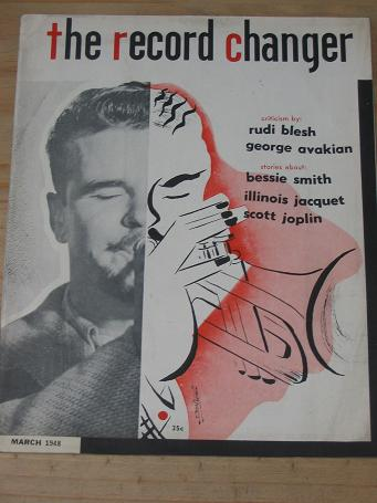 RECORD CHANGER MAGAZINE MARCH 1948 BACK ISSUE FOR SALE VINTAGE AMERICAN JAZZ MUSIC COLLECTING PUBLIC