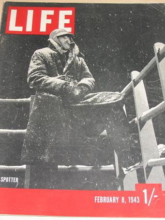 LIFE magazine February 8 1943. WW2 Vintage NEWS, PHOTO publication for sale. Classic images of the t