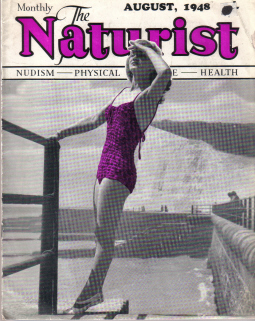 NATURIST MAGAZINE AUG 1948 ROYE NUDISM SUNBATHING ORIGINAL VINTAGE MAGAZINE FOR SALE PURE NOSTALGIA