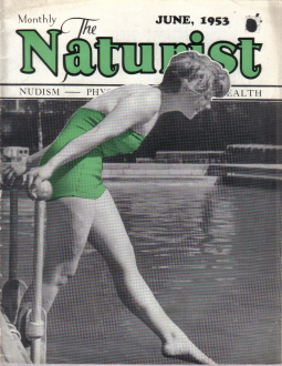 NATURIST MAGAZINE JUNE 1953 SUNBATHING NUDISM ORIGINAL VINTAGE MAGAZINE FOR SALE PURE NOSTALGIA ARCH