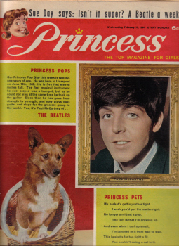 PRINCESS GIRLS MAG FEB 15 1964 PAUL McCARTNEY VINTAGE PUBLICATION FOR SALE STORIES COMIC STRIPS