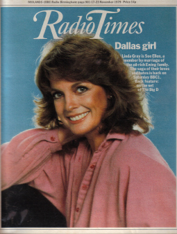 RADIO TIMES 17-23 NOV 1979 LINDA GRAY DALLAS SLEEP JR PAM BOBBY