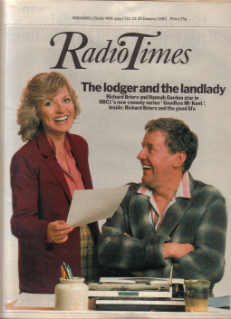 RADIO TIMES 23-29 JAN 1982 RICHARD BRIERS HANNAH GORDON BURGESS CLASSIC BRITISH TV LISTINGS MAGAZINE