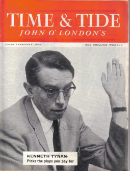 TIME AND TIDE MAGAZINE 20-26 FEB 1964 TYNAN VINTAGE PUBLICATION FOR SALE CLASSIC IMAGES OF THE TWENT