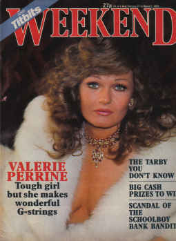 WEEKEND MAG FEB 27 to MAR 5 1985 VALERIE PERRINE S