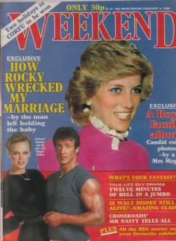 PRINCESS DIANA 1986 WEEKEND CELEBRITY ROYALTY COVER VINTAGE