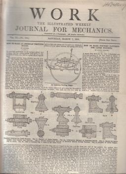 WORK 1896 JOURNAL FOR MECHANICS AMERICAN TROTTING BUGGY MAR 7 ILLUSTRATED ANTIQUE MAGAZINE FOR SALE